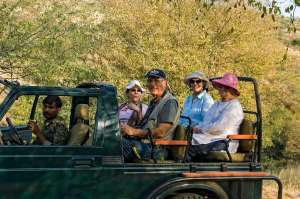 On a game drive in  Ranthambhore with friends from UK